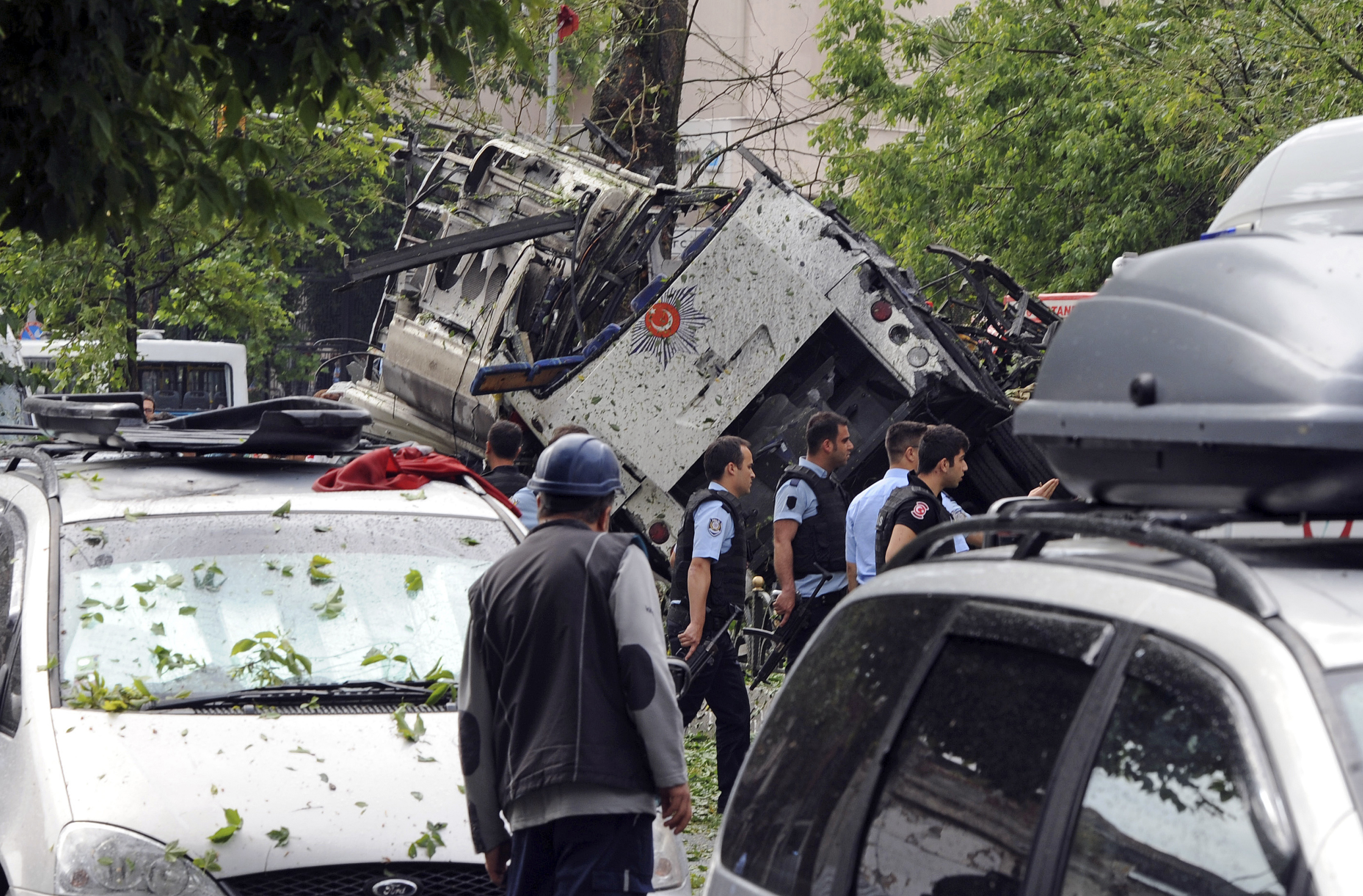 The site of the bomb explosion in Istanbul on June 7.