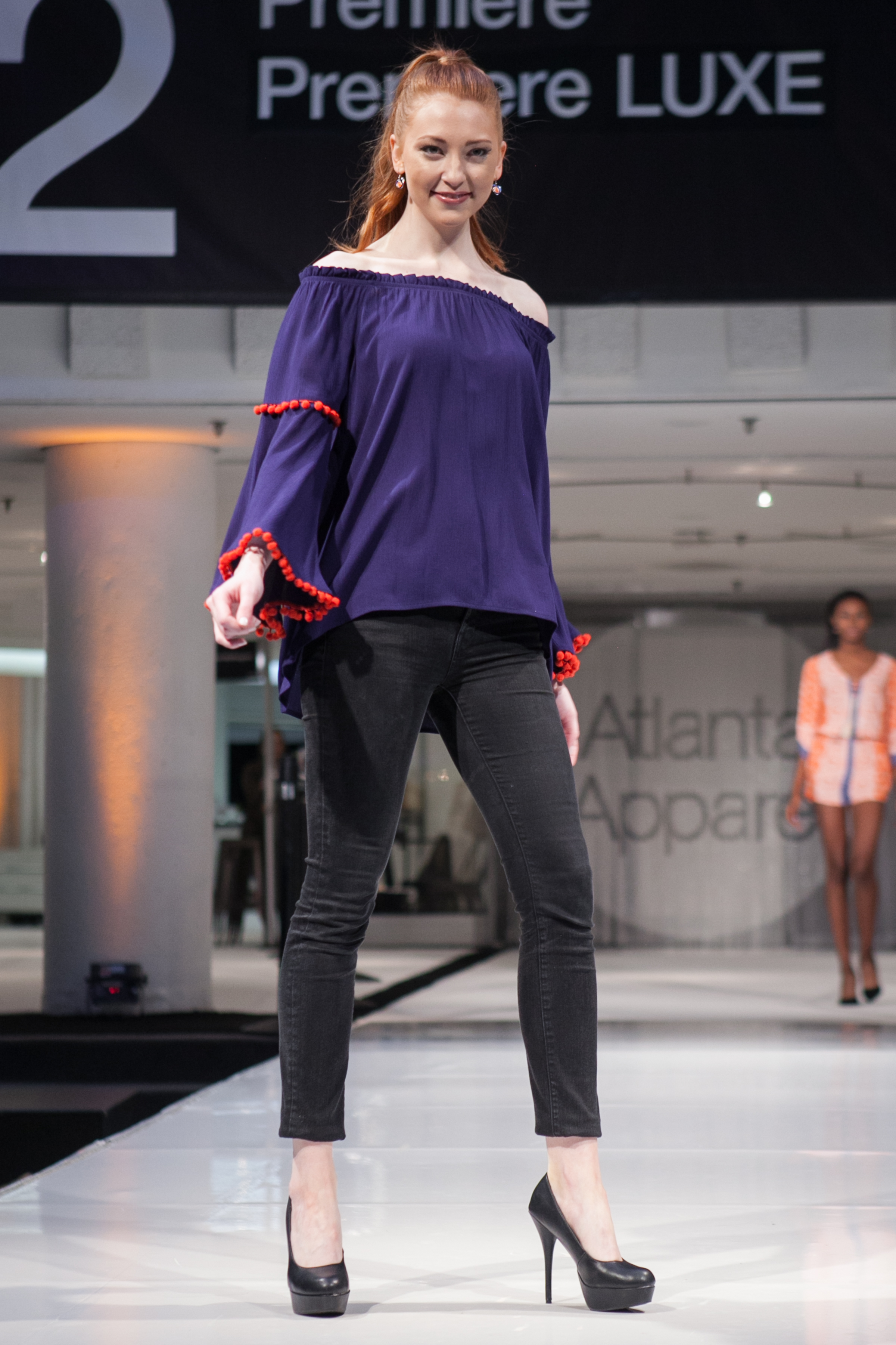 The Atlanta Apparel Market fashion show captured school spirit for fall with Game Day colors.