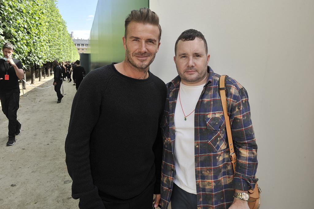 David Beckham and Kim Jones