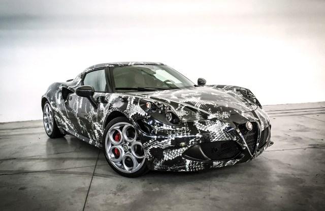 Lapo Elkann and Adidas custom Alfa Romeo 4c