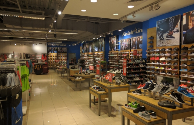 Finish Line offers shoes for men, women and children.