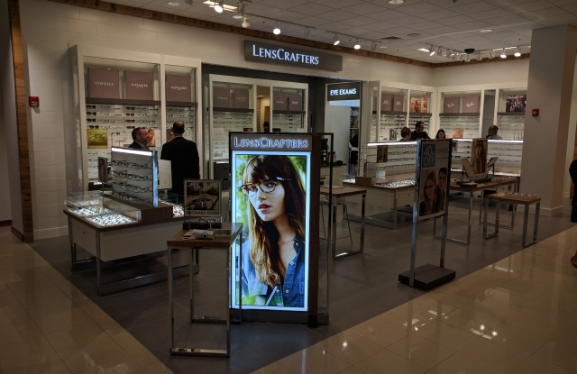 The first LensCrafters at Macy's Easton Town Center.
