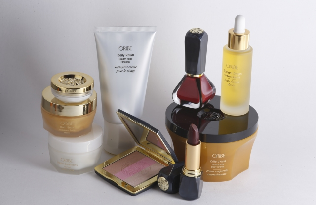 An assortment of the new Oribe Beauty products.