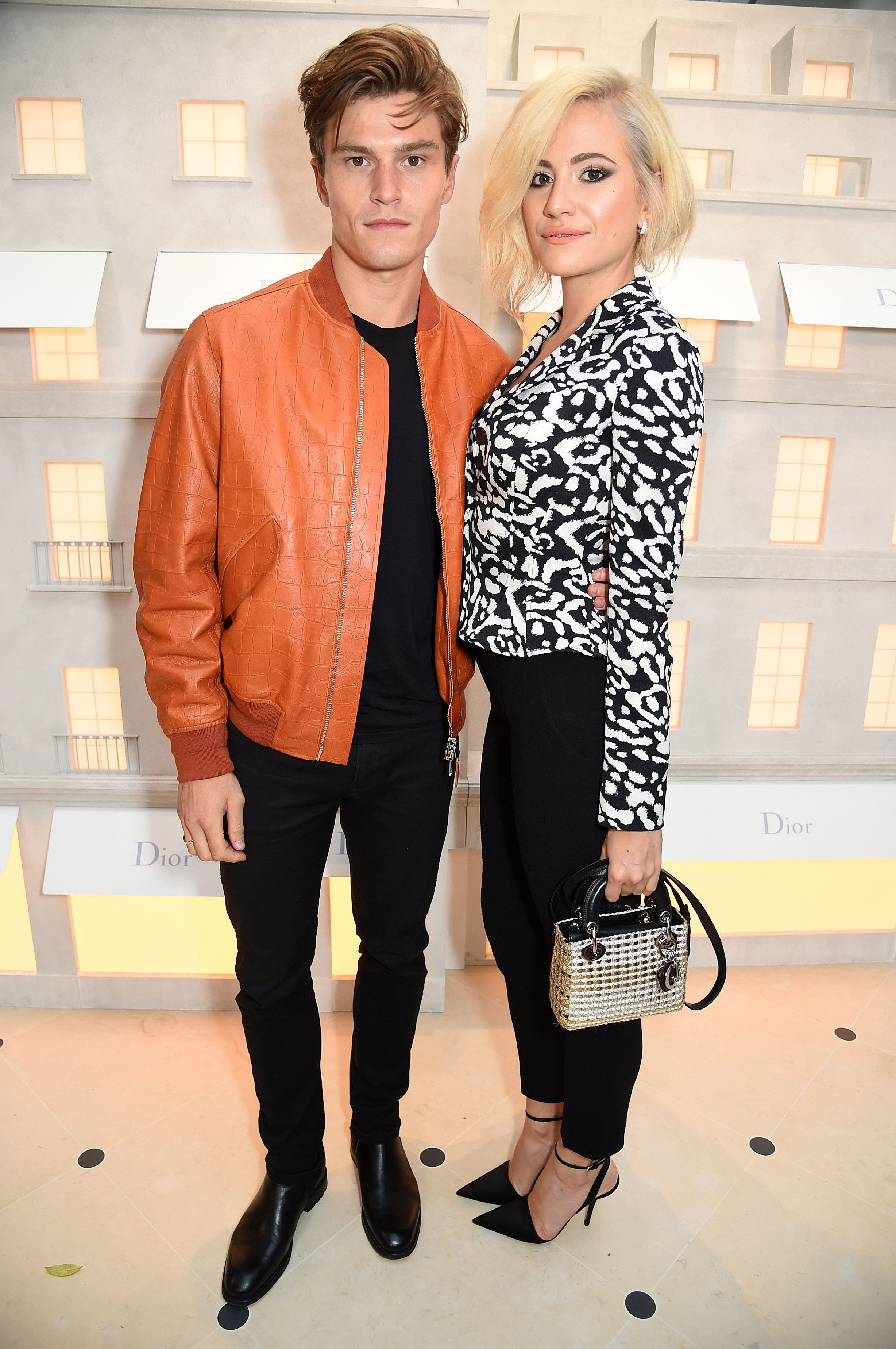 Oliver Cheshire and Pixie Lott house of dior cocktail party london