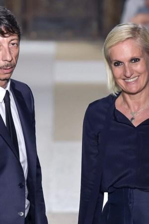 Maria Grazia Chiuri and Pierpaolo Piccioli Valentino Paris Men's Fashion Week, Spring 2017