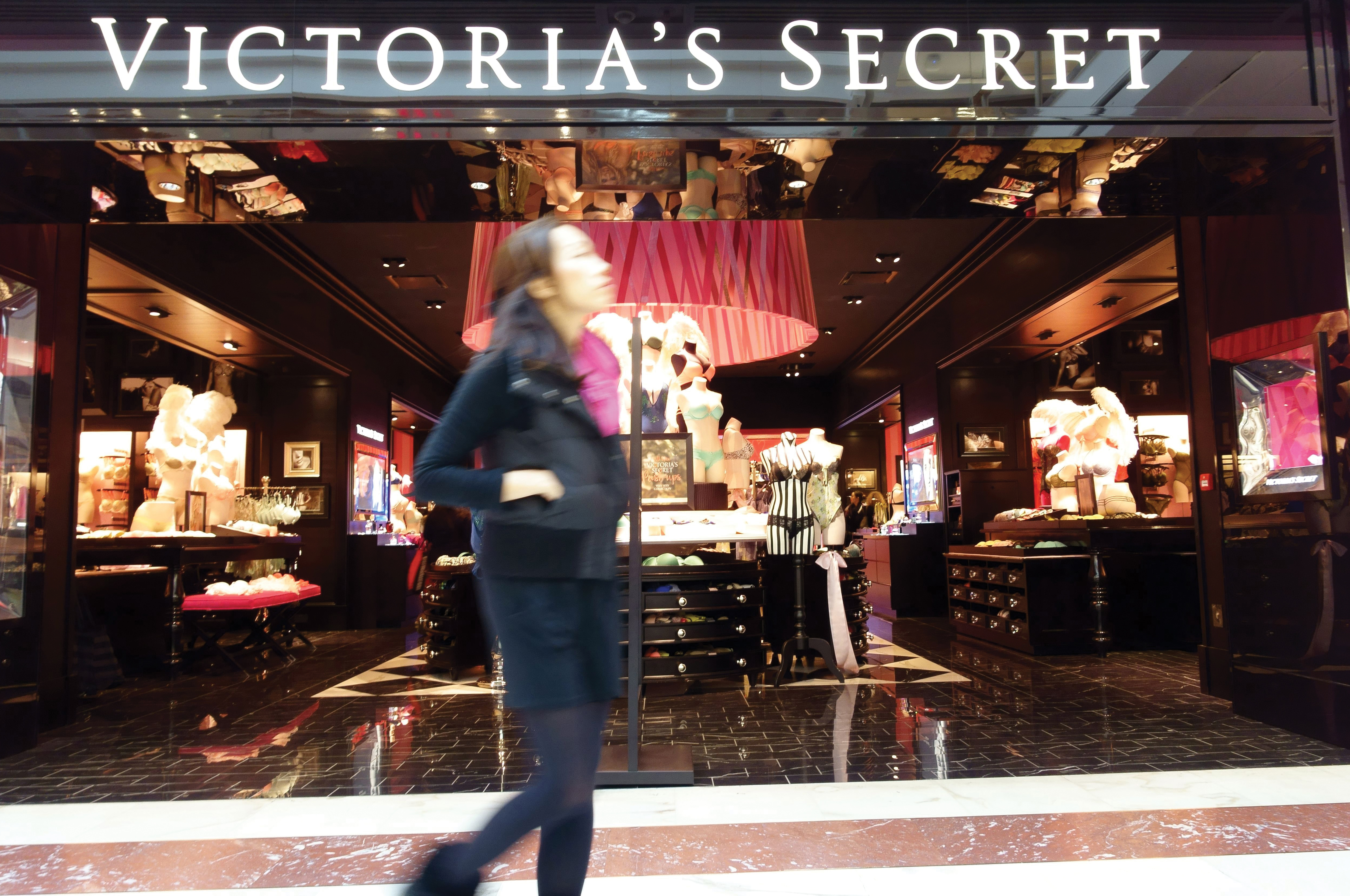 The renovated Victoria's Secret store on New Bond Street in London.