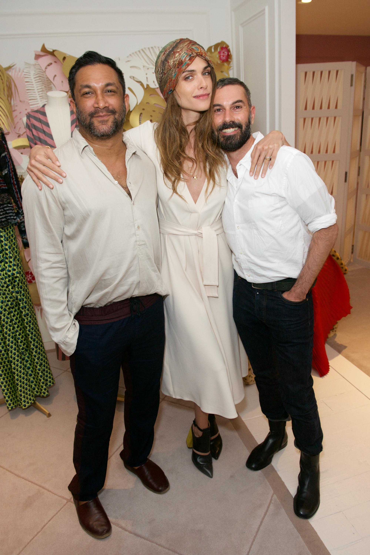 Ramon Martin, Elisa Sednaoui Dellal and Ryan Nobo