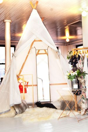 True & Co.'s nomadic glamping experience.
