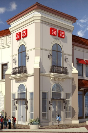 A rendering of Uniqlo's Disney Springs store.