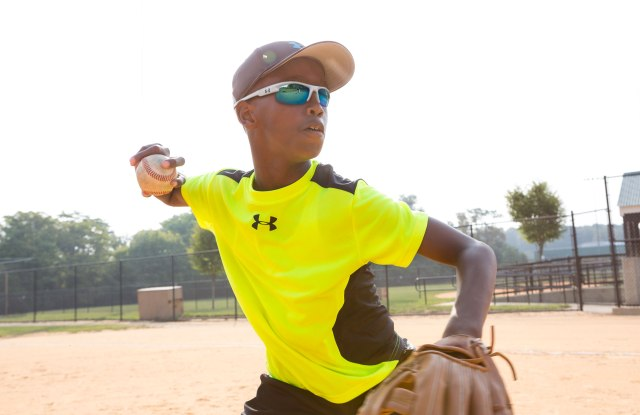 An Under Armour youth baseball style.