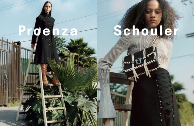 Images from Proenza Schouler's fall 2016 campaign.