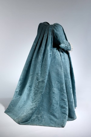 "This 1730 Robe Volante will be featured in ""Masterworks: Unpacking Fashion."""