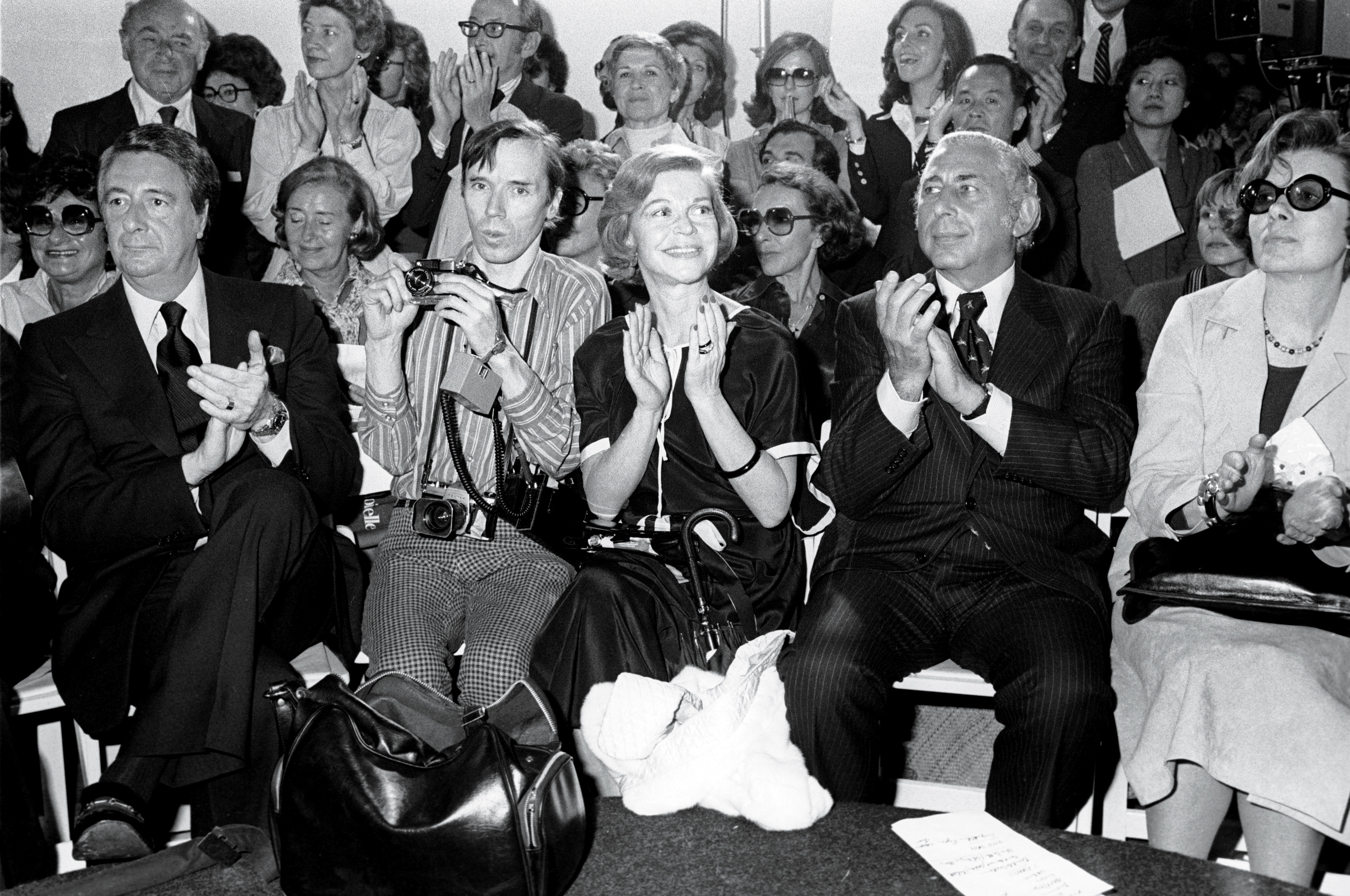 Bill Cunningham covering a Calvin Klein show in 1975 at The Flamingo.