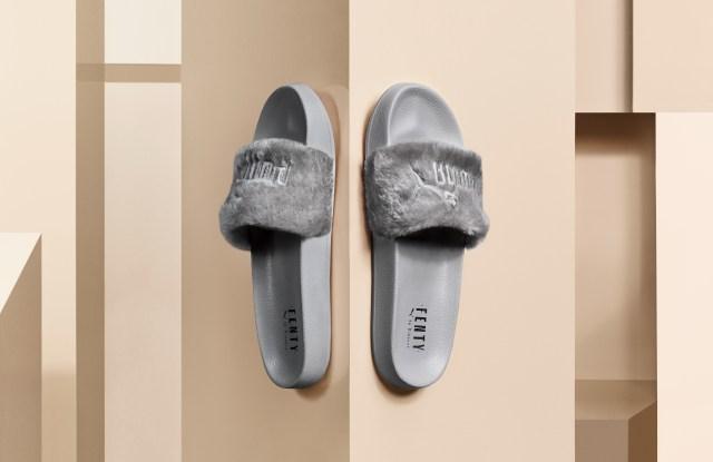 Fenty Rihanna Gray Slides