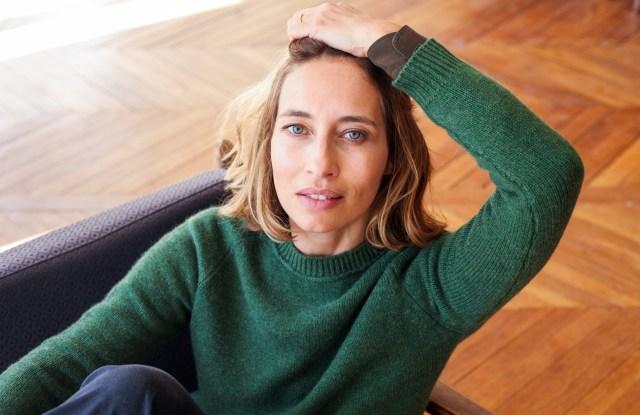 Alexandra Golovanoff in a cashmere sweater
