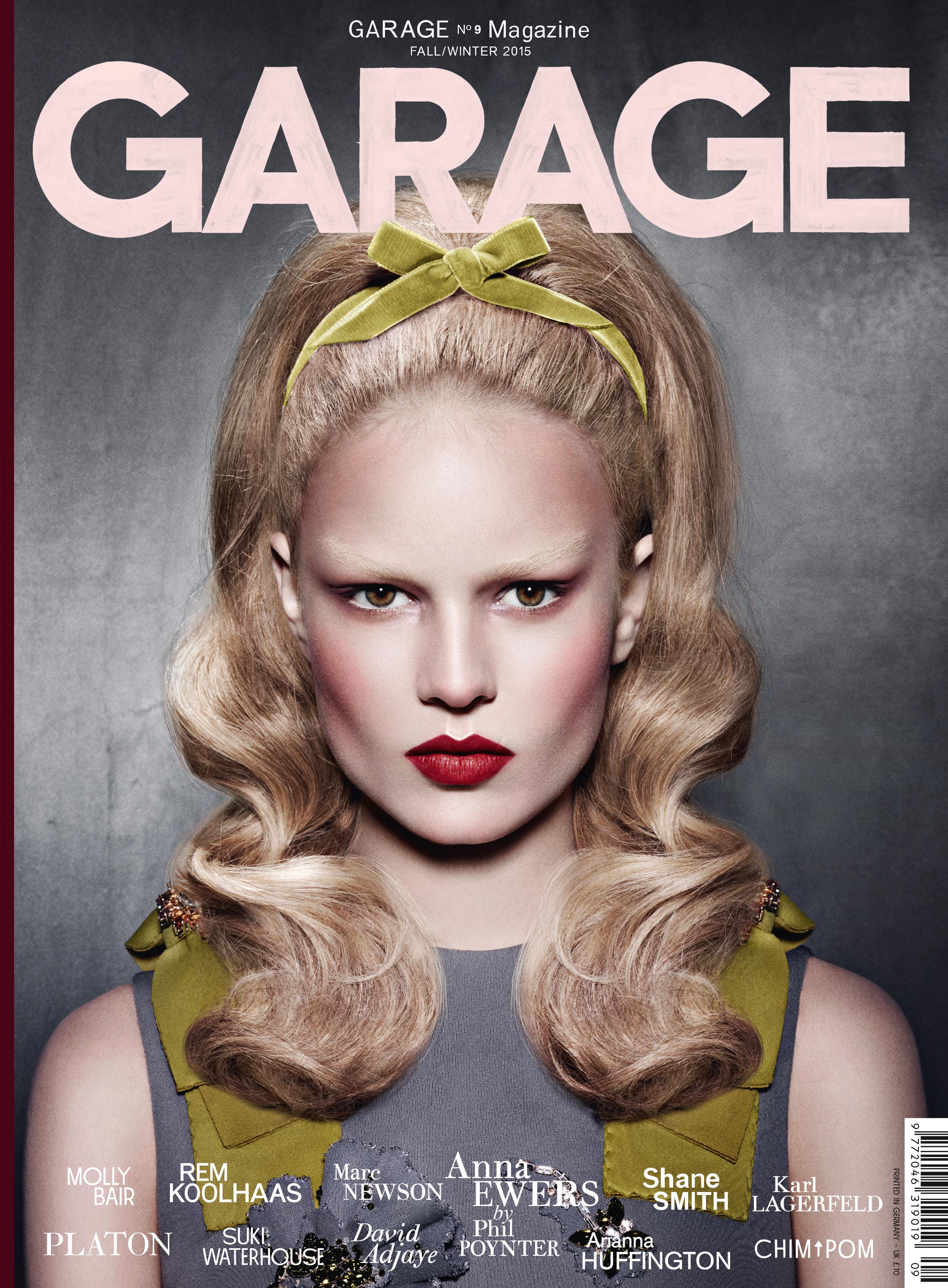 Anna Ewers covers Garage magazine.