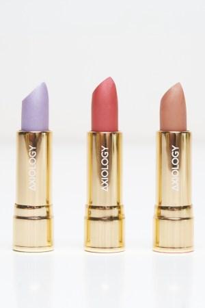 Axiology lipstick shades.