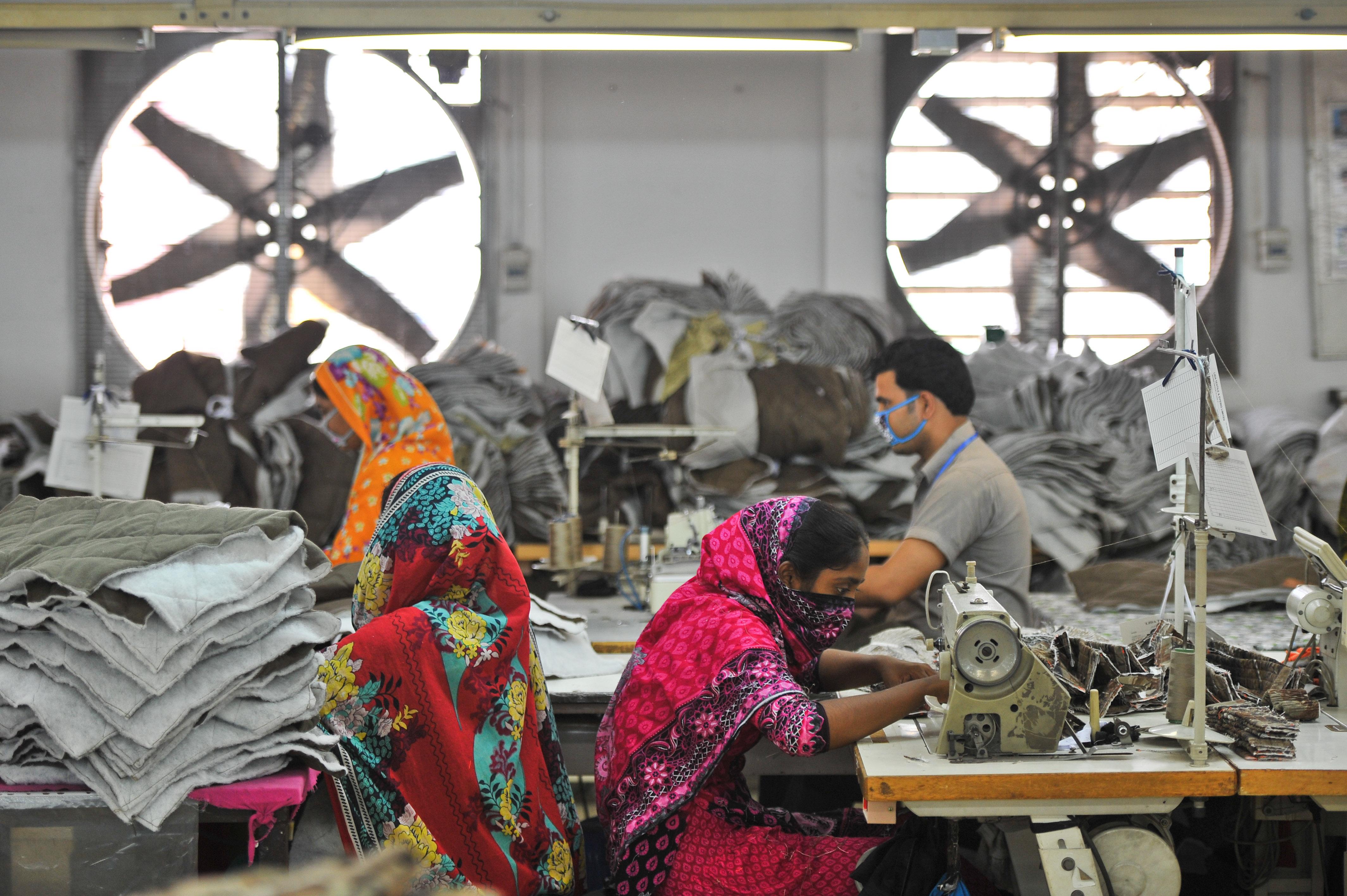 Garment factory in Dhaka, Bangladesh