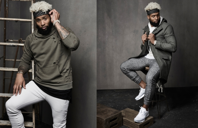 Odell Beckham Jr. models looks from 13 x twenty, his capsule collection for Bloomingdales.