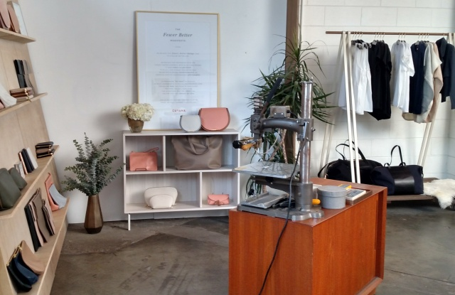 Cuyana downtown Los Angeles pop-up in Alchemy Works