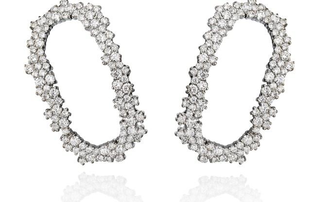 """Ana Khouri's pavé """"Lourdes"""" clip-on earrings."""