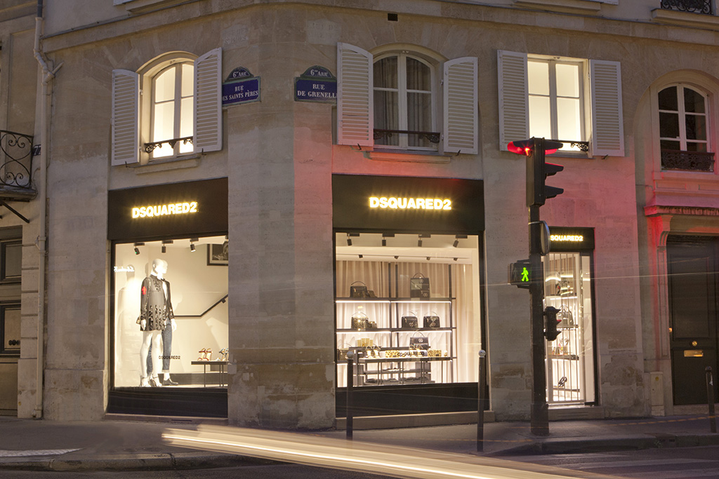 Dsquared2's second flagship store in Paris.