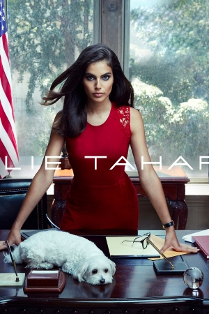 A visual from Elie Tahari's Fall '16 ad campaign.