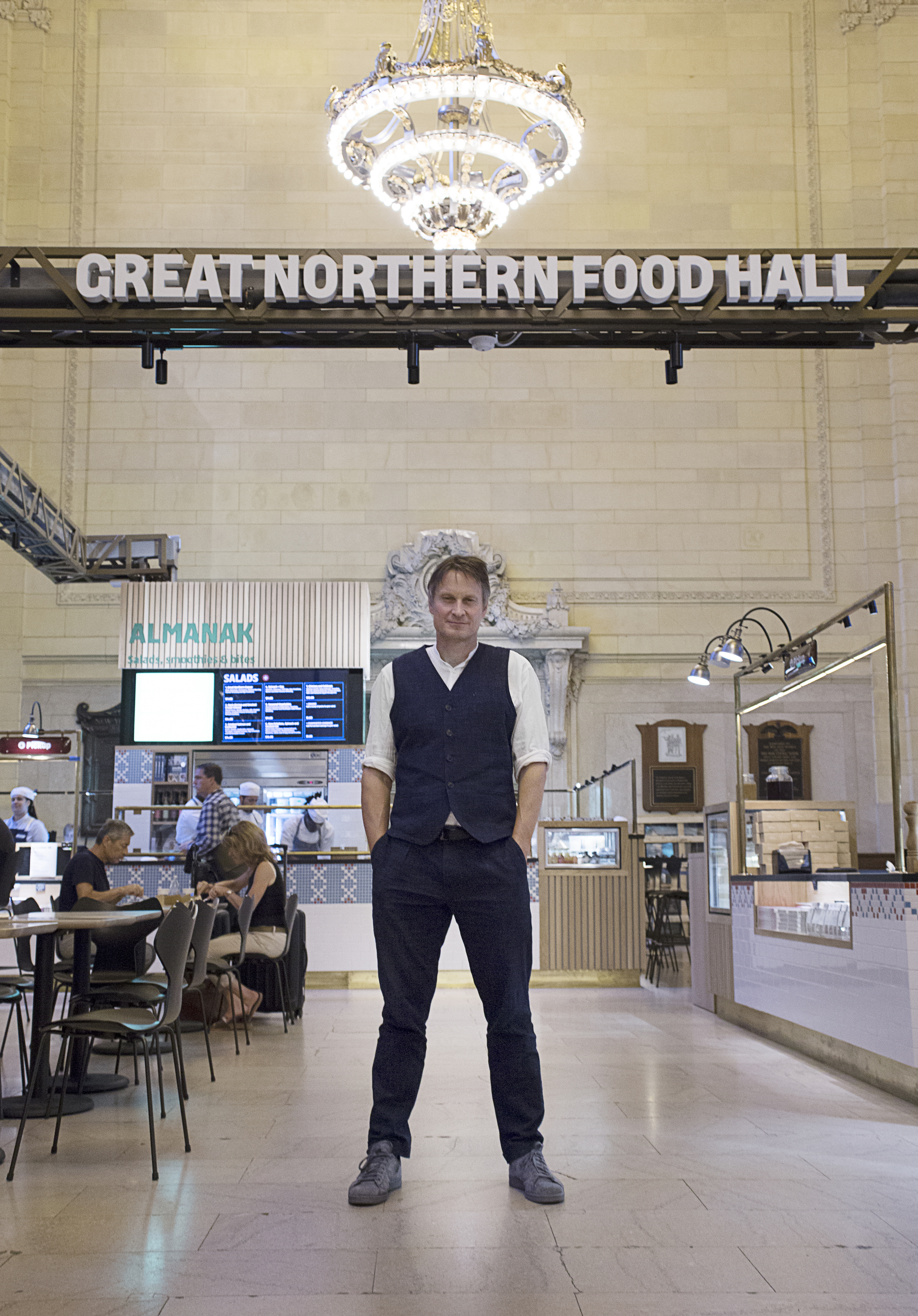 Claus Meyer at Great Northern Food Hall In Grand Central's Vander