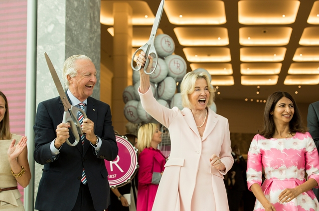 Holt Renfrew opens its newest location at Square One in Mississauga, Ontario on July 28th 2016. W. Galen Weston and Hilary M. Weston along with Provincial Minister, Dipika Damerla host the opening day ribbon cutting.