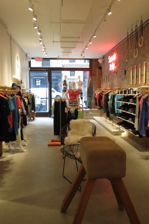 The interior of Sweaty Betty's new East Hampton pop-up.