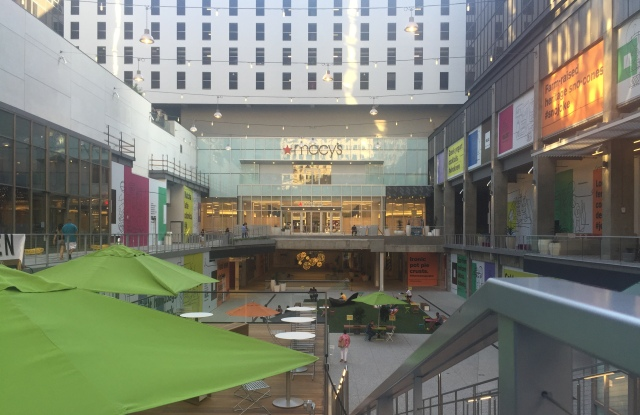 The retail component of The Bloc project in downtown Los Angeles is anchored by a Macy's flagship.