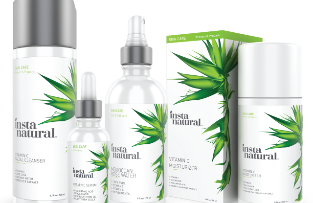 InstaNatural's revamped product packaging.