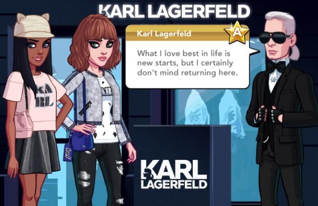 Karl Lagerfeld in Kim Kardashian mobile game
