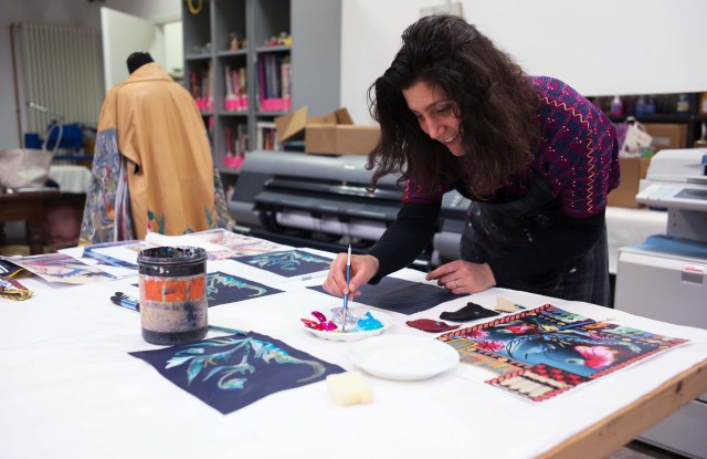 Art is central to Silvia Giovanardi's collection. Here, the designer at work.