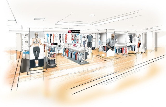 Lululemon shop-in-shop Harrods