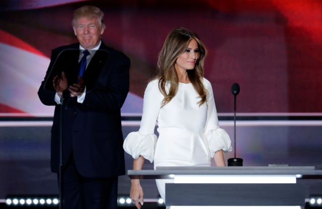Melania Trump in Roksanda and Donald Trump