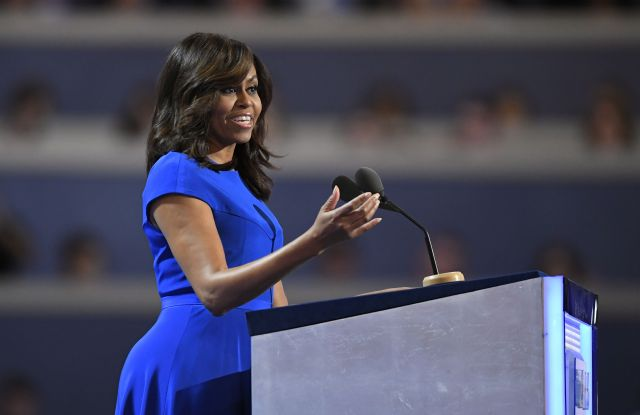 Michelle Obama at the Democratic National Convention in Philadelphia.