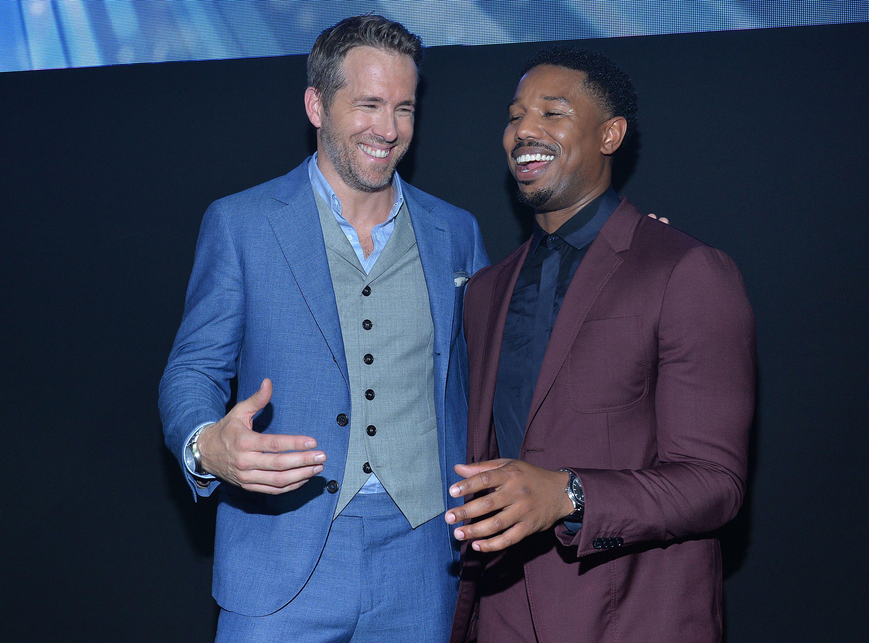 Michael B. Jordan and Ryan Reynolds at Piaget 'Polo S' launch