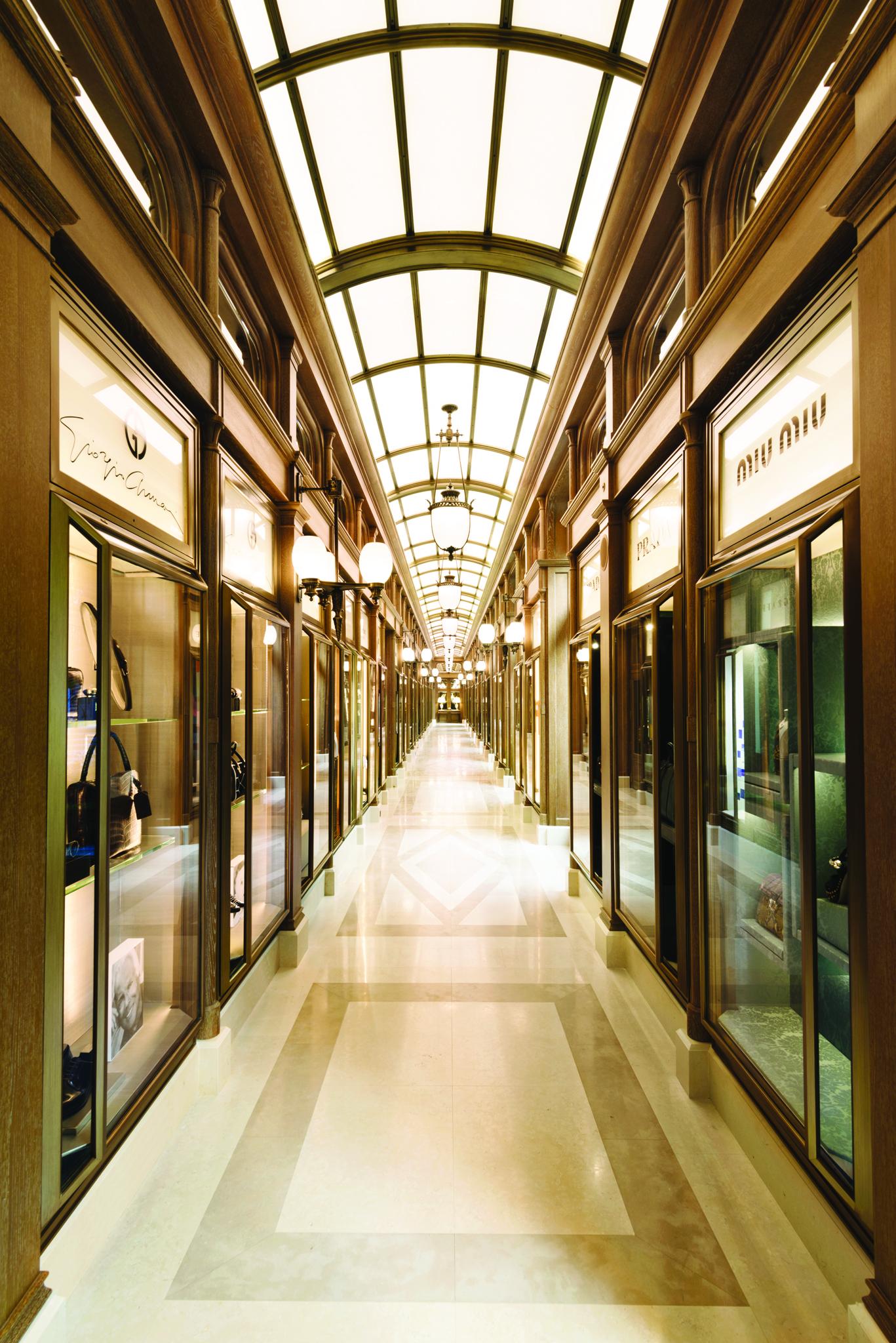 The La Galerie du Ritz Paris connects the Place Vendôme to the Rue Cambon.