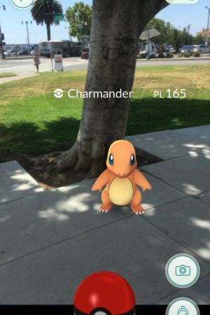 Pokemon Go uses augmented reality on a smartphone app to combine the real world with the digital game.