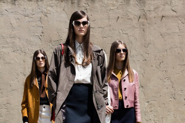 A visual from Prada's Mod Sunglass Collection campaign