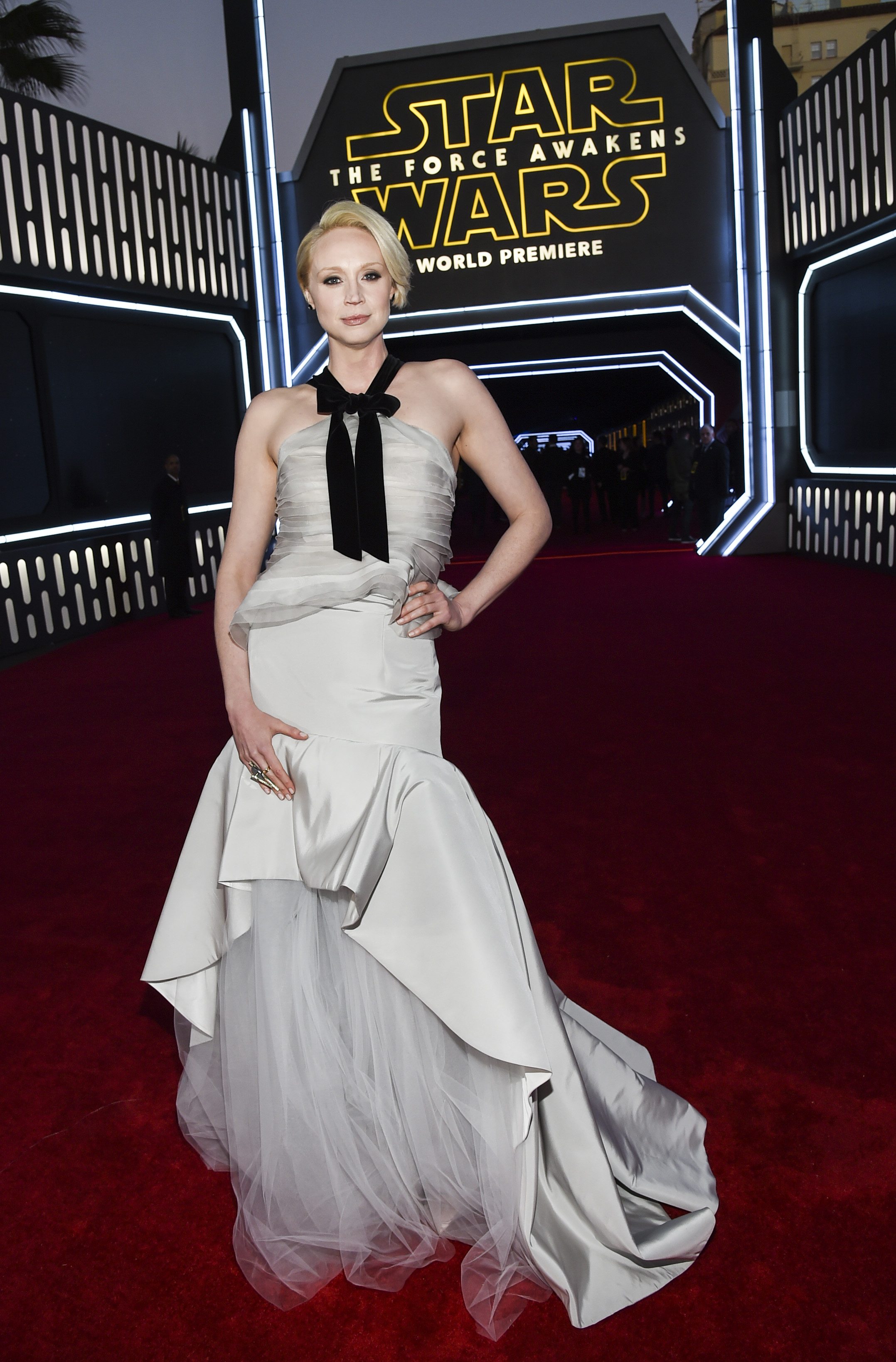 "Gwendoline Christie at the ""Star Wars: The Force Awakens"" film premiere in L.A."