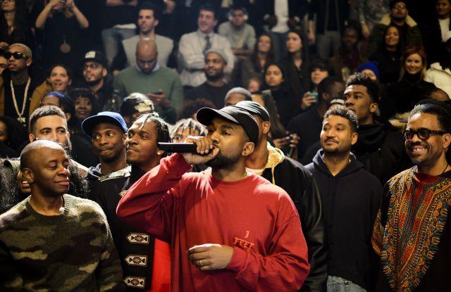 Kanye West at Yeezy Season 3, in February