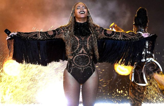 Beyoncé performing at the BET Awards in Los Angeles