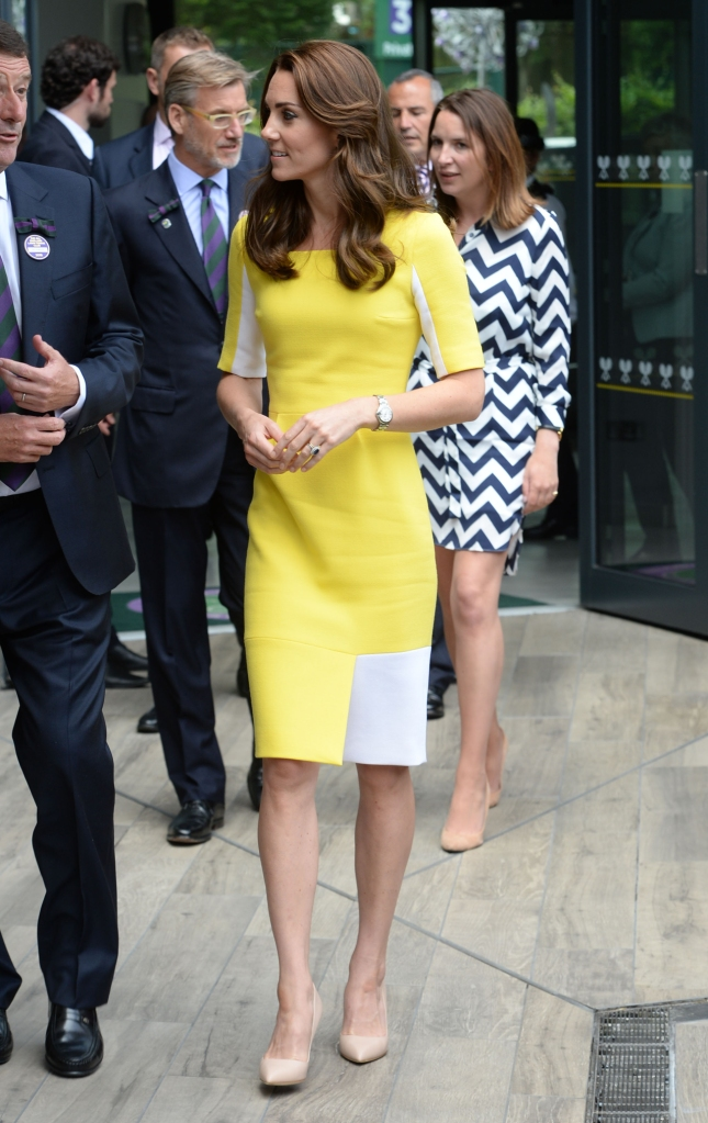 The Duchess of Cambridge wears Roksanda Ilincic dress to Wimbledon