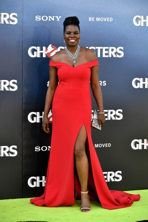 Leslie Jones at the 'Ghostbusters' film premiere.
