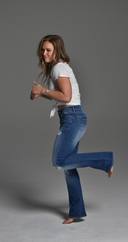 Ronda Rousey in Buffalo David Bitton's Hope jeans
