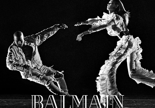 Balmain's fall 2016 ad campaign starring Kanye West and Joan Smalls
