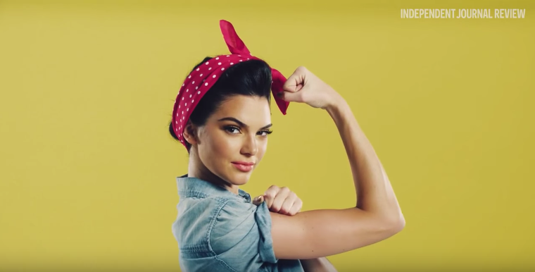 Kendall Jenner as Rosie the Riveter for Rock the Vote campaign