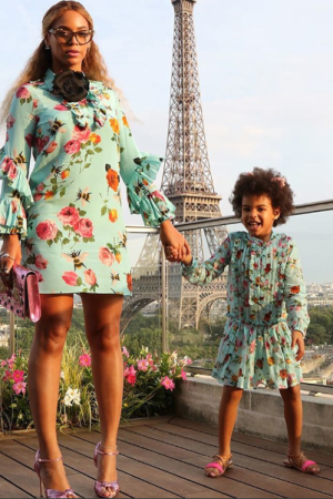Beyoncé and Blue Ivy in Gucci.